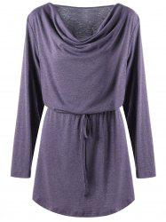 Plus Size Longline Cowl Neck Top -
