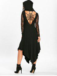 Halloween Spider Web Handkerchief Flowy Dress -