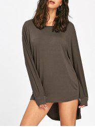 Tunic High Low T Shirt Dress -