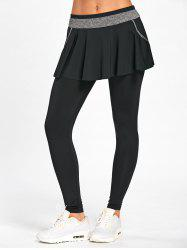 Skinny High Waisted Gym Skirted Leggings -