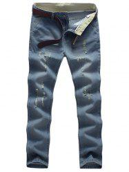 Light Wash Distressed Neuf Minutes of Jeans -