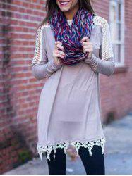 Tunic T Shirt Dress with Lace -