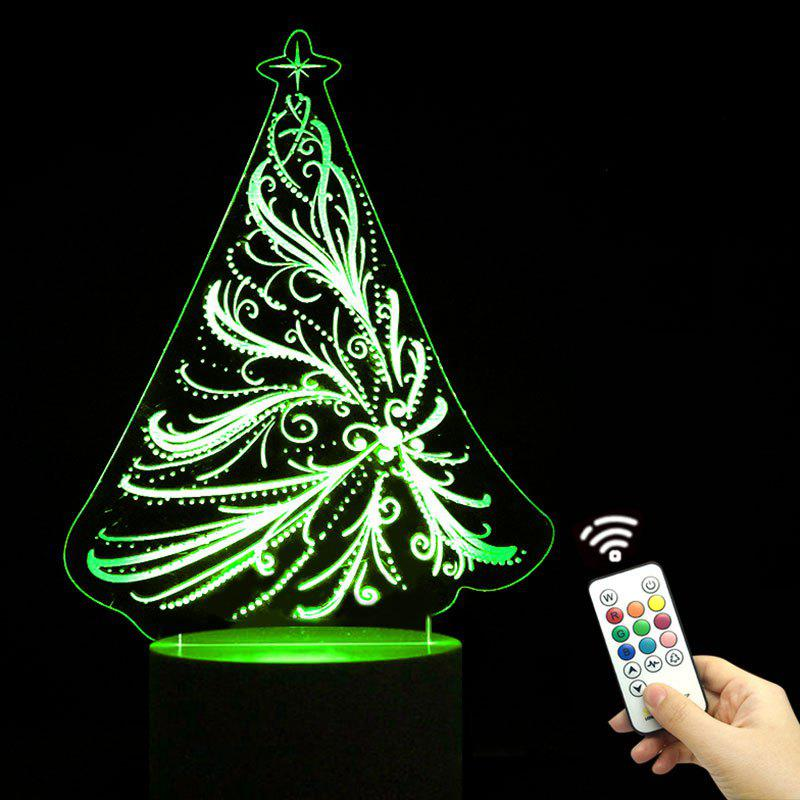 30% OFF Remote Control Christmas Tree Shape Color Change ...