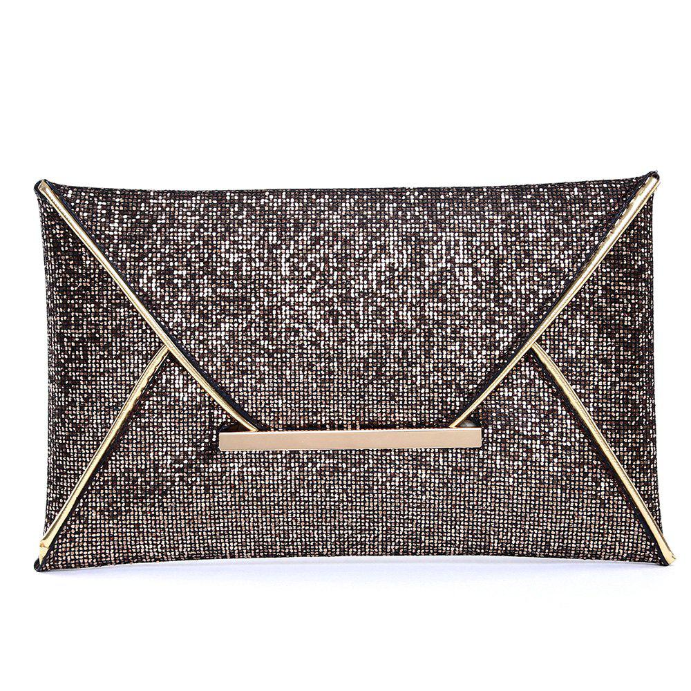 Outfits Envelope Glitter Metal Clutch Bag