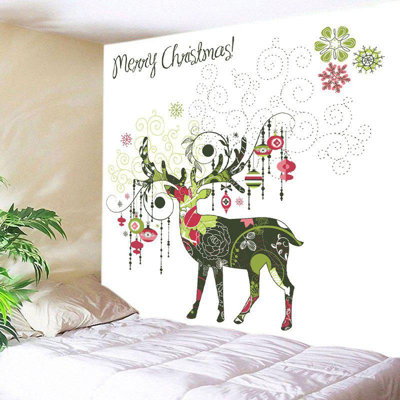 Outfit Merry Christmas Deer Print Tapestry Wall Hanging Art Decoration