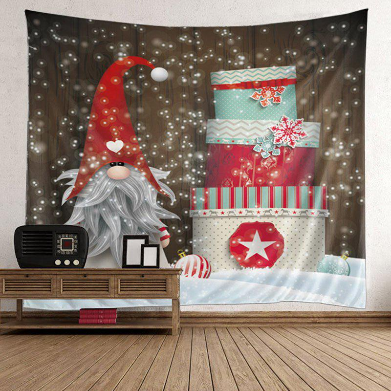 Christmas Birthday Cake Patterned Wall Art TapestryHOME<br><br>Size: W59 INCH * L51 INCH; Color: COLORFUL; Style: Festival; Theme: Christmas; Material: Velvet; Feature: Removable,Waterproof; Shape/Pattern: Snow; Weight: 0.2100kg; Package Contents: 1 x Tapestry;