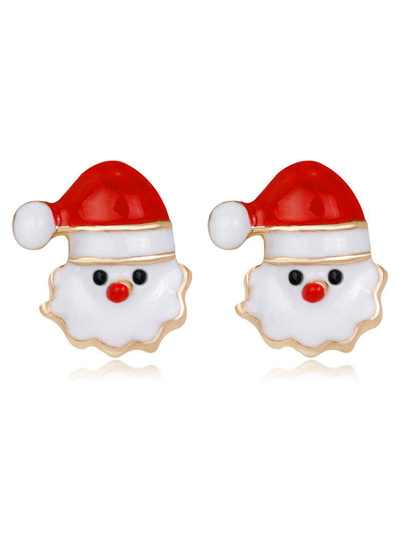 Tiny Christmas Santa Stud EarringsJEWELRY<br><br>Color: RED; Earring Type: Stud Earrings; Gender: Unisex; Style: Trendy; Shape/Pattern: Geometric; Length: 1.3CM; Weight: 0.0200kg; Package Contents: 1 x Earring (Pair);