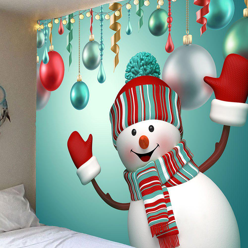 Cute Christmas Snowman Pattern Waterproof Wall Art TapestryHOME<br><br>Size: W59 INCH * L51 INCH; Color: COLORFUL; Style: Cute; Theme: Christmas; Material: Velvet; Feature: Removable,Washable,Waterproof; Shape/Pattern: Snowman; Weight: 0.2100kg; Package Contents: 1 x Tapestry;