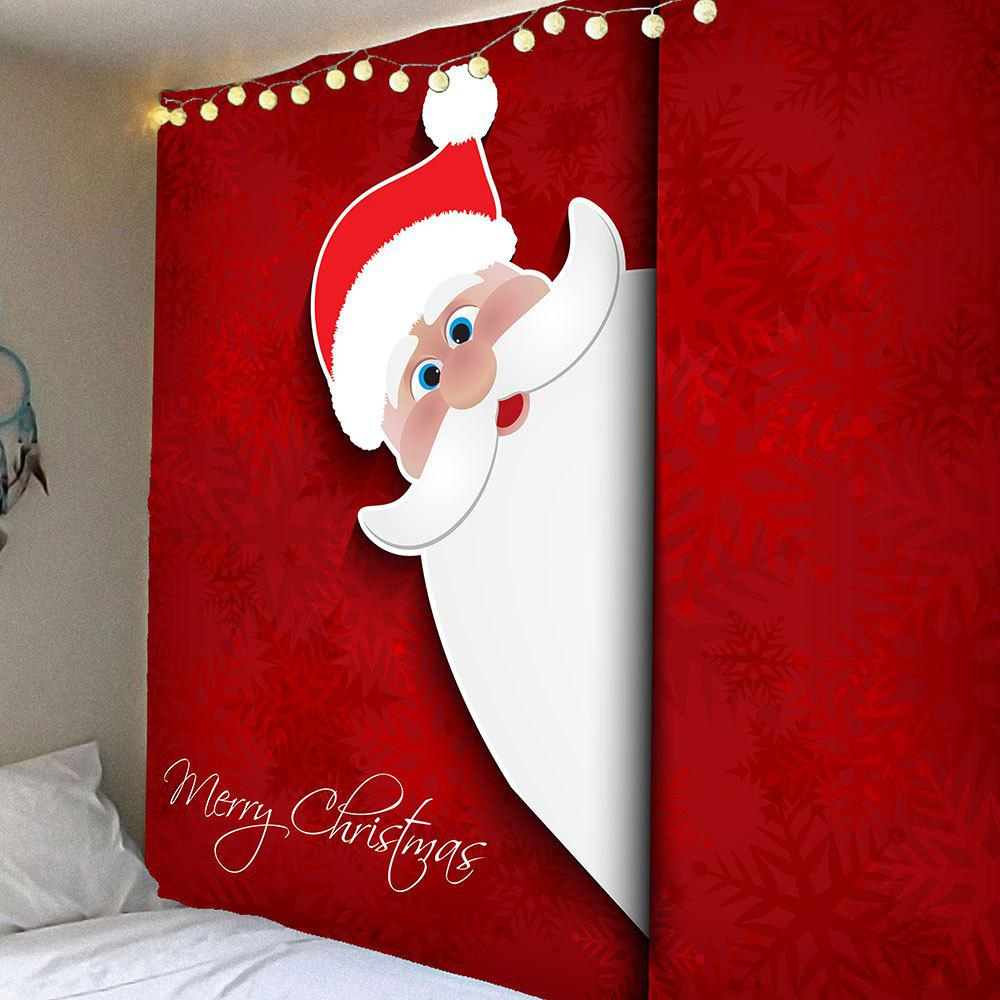 Outfit Waterproof Santa Claus Pattern Wall Hanging Tapestry