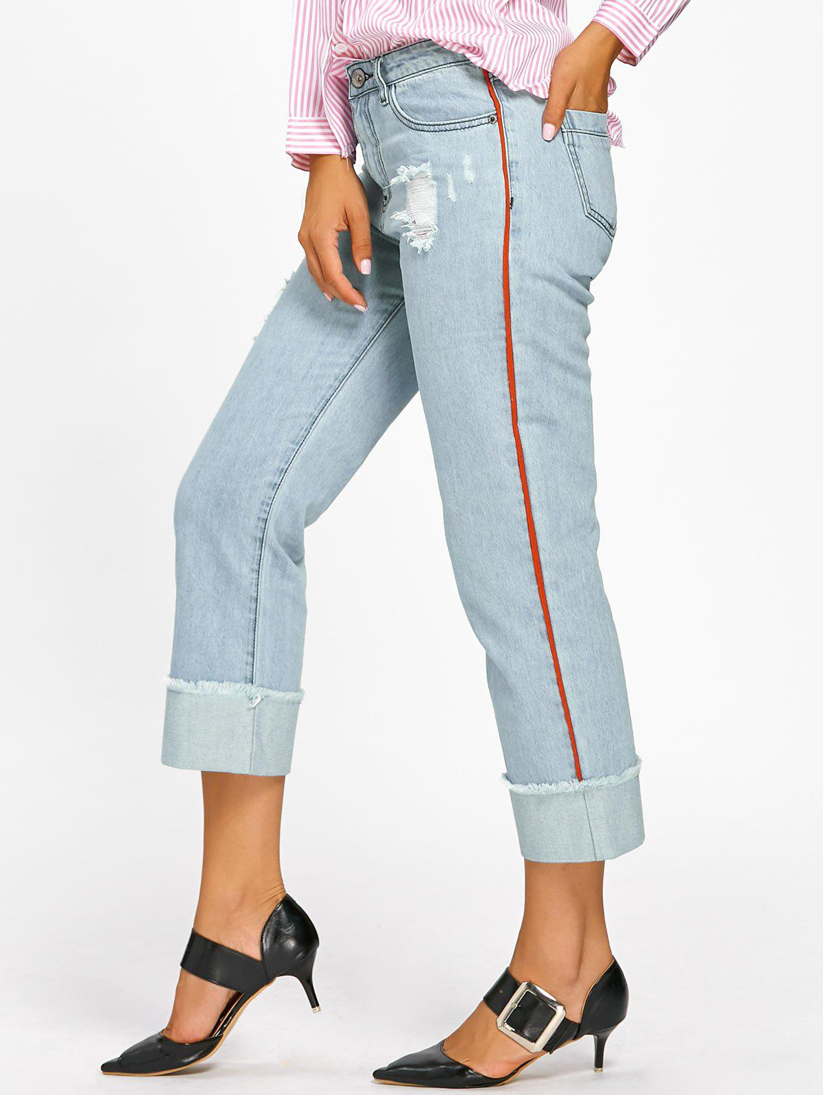 Hot Faded Frayed Cuffed Jeans