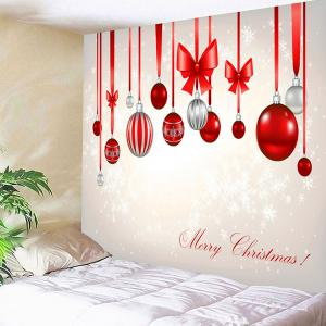 Waterproof Christmas Bow Knots Balloons Pattern Hanging Tapestry - COLORFUL W91 INCH * L71 INCH
