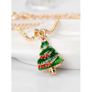Collier Fleurs Crystals Star Christmas Tree -