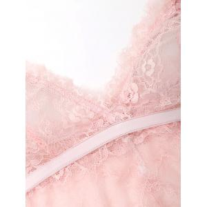 Cami Lace See Through Bralette - ROSE PÂLE S