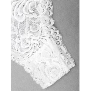 Lace Low Cut Backless Teddy - WHITE S