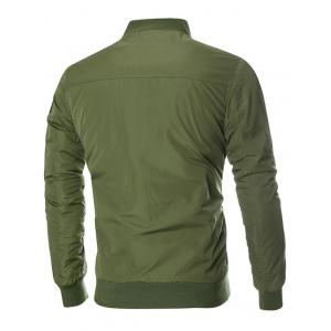 Patch Design Zip Up Bomber Jacket - Vert Armée XL