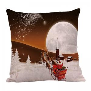 Home Decor Stars and Christmas Carriage Pattern Pillow Case -
