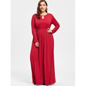 Robe taille taille taille Maxi Plus - Rouge 3XL