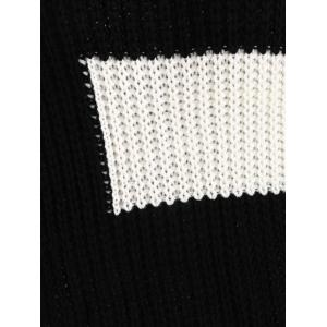 Plus Size Color Block Chunky Knitted Boyfriend Sweater -
