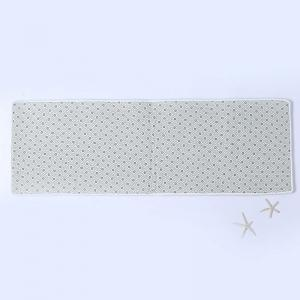 Flannel Thin Christmas Tree Antislip Bath Rug - WHITE W16 INCH * L47 INCH