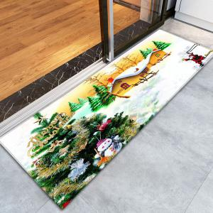 Flannel Thin Christmas Tree Antislip Bath Rug -