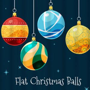 Christmas Ball Waterproof Bathroom Shower Curtain -