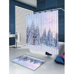 Snowfield Forest Printed Shower Bath Curtain -
