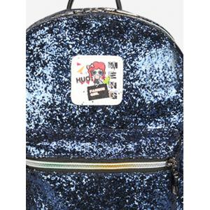 Zipper Sequin Backpack - BLUE