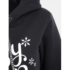 Baby Cold Outside Print Drawstring Hoodie - BLACK S