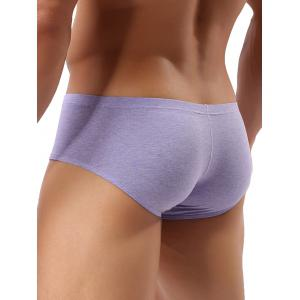 U Contour Pouch Mid Rise Breathable Trunks - PURPLE L