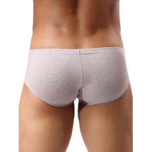 U Contour Pouch Mid Rise Breathable Trunks - GRAY 2XL