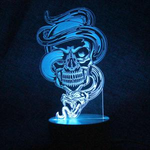 Color Change Dragon Skull Shape Remote Control Night Light -