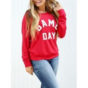 Game Day Print Sweatshirt - RED S