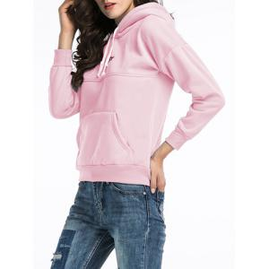 Embroidered Pullover Hoodie - PINK 2XL