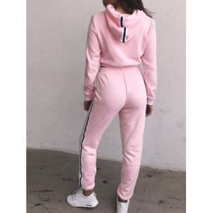 Cropped Hoodie with Jogger Pants - PINK S