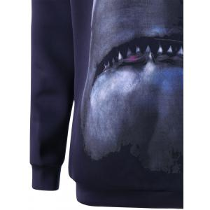 Pullover Shark Printed Sweatshirt -