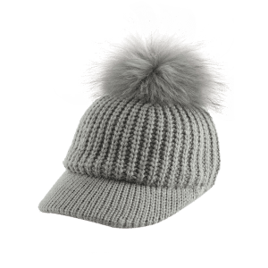 Outdoor Pom Ball Embellished Knit Baseball Hat -