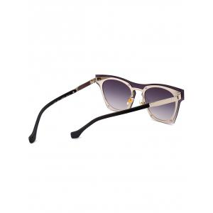UV Protection Metal Frame Pilot Sunglasses - BLACK