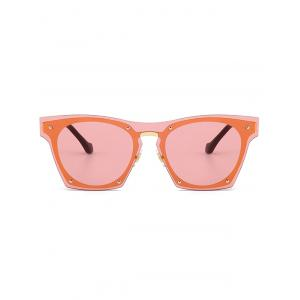 UV Protection Metal Frame Pilot Sunglasses - ORANGE