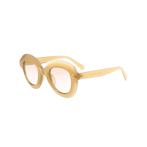 Full Rim Design Oval Sunglasses - OFF-WHITE