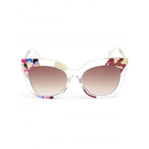 Color Pieces Embellished Butterfly Sunglasses -