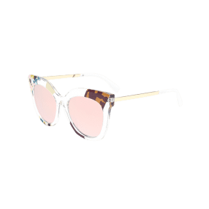 Color Pieces Embellished Butterfly Sunglasses - PINK