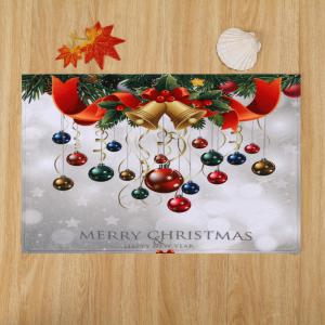 Bathroom Antislip Christmas Ball Area Rug - COLORMIX W24 INCH * L35.5 INCH