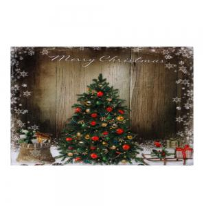 Bathroom Antiskid Christmas Tree Area Rug - BROWN W16 INCH * L24 INCH