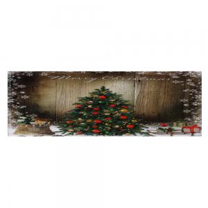Bathroom Antiskid Christmas Tree Area Rug - BROWN W16 INCH * L47 INCH