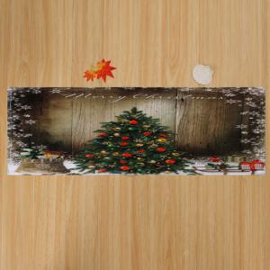 brown w16 inch * l47 inch bathroom antiskid christmas tree area