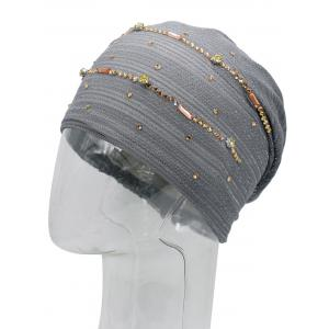 Rhinestones Embellished Lurex Lace Hat -