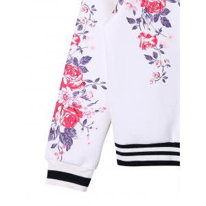 Zip Up Floral Baseball Jacket -