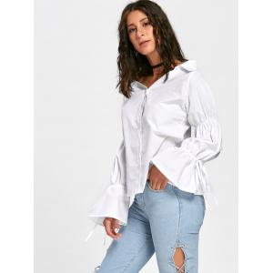 Convertible Oversized Bell Sleeve Shirt -