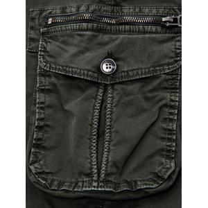 Poches à rabat Zip Fly Beam Feet Cargo Pants -