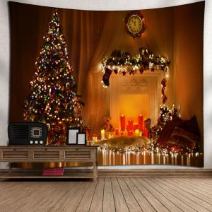 Christmas Tree Printed Bedroom Decor Tapestry -